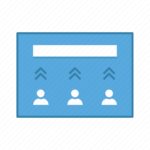 increase, layout, people, presentation, template, ui, user interface icon