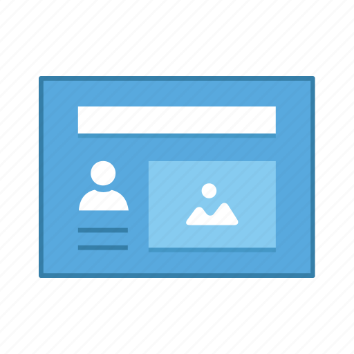 image, layout, presentation, template, ui, user, user interface icon
