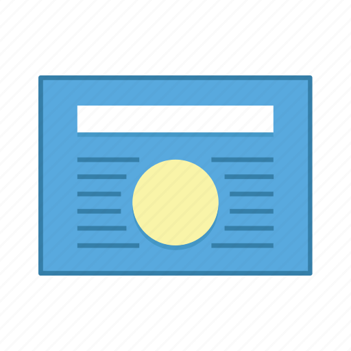article, content, layout, presentation, template, ui, user interface icon
