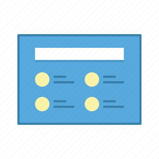 content, layout, list, presentation, template, ui, user interface icon