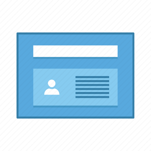 layout, list, presentation, template, ui, user, user interface icon