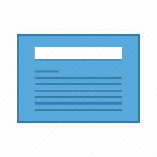 article, layout, presentation, template, text, ui, user interface icon