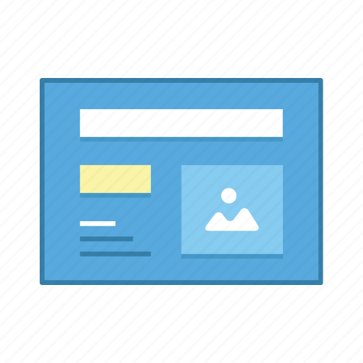 content, image, layout, presentation, template, ui, user interface icon