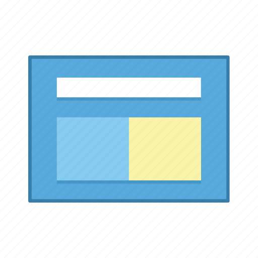 content, divide, layout, presentation, template, ui, user interface icon