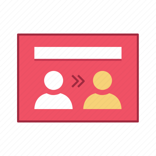 exchange, layout, people, presentation, template, ui, user interface icon