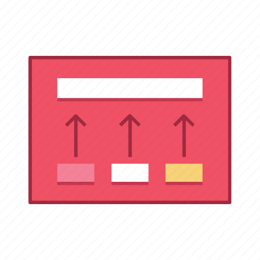 content, increase, layout, presentation, template, ui, user interface icon