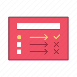 layout, list, presentation, task, template, ui, user interface icon
