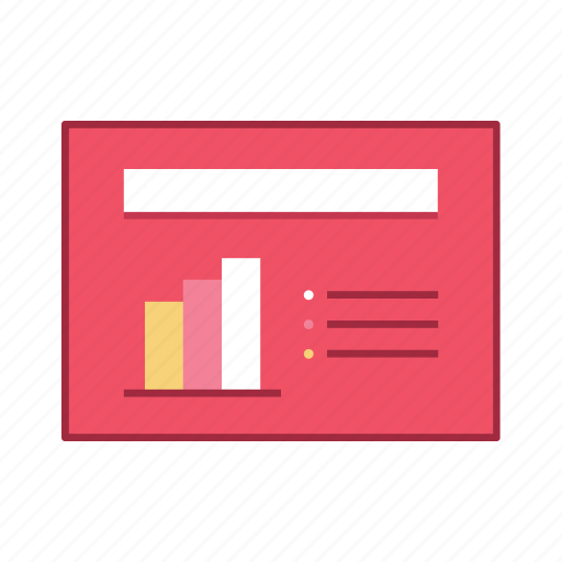 layout, list, presentation, statistic bar, template, ui, user interface icon
