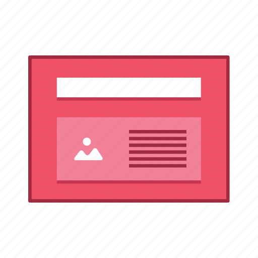 article, image, layout, presentation, template, ui, user interface icon