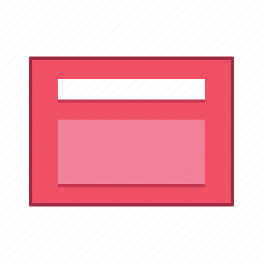 default, layout, presentation, red, template, ui, user interface icon