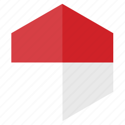 asia, country, design, flag, hexagon, indonesia icon