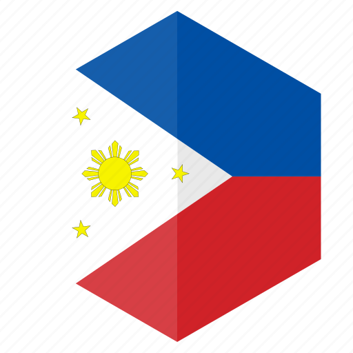 asia, country, design, flag, hexagon, philippines icon
