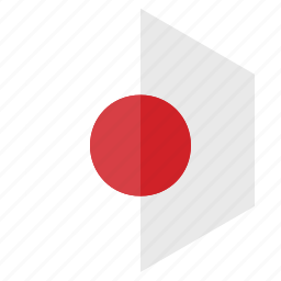 asia, country, design, flag, hexagon, japan icon