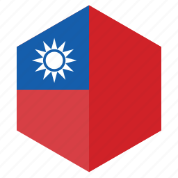 asia, country, design, flag, hexagon, taiwan icon