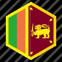 country, asia, flag, design, sri lanka, hexagon