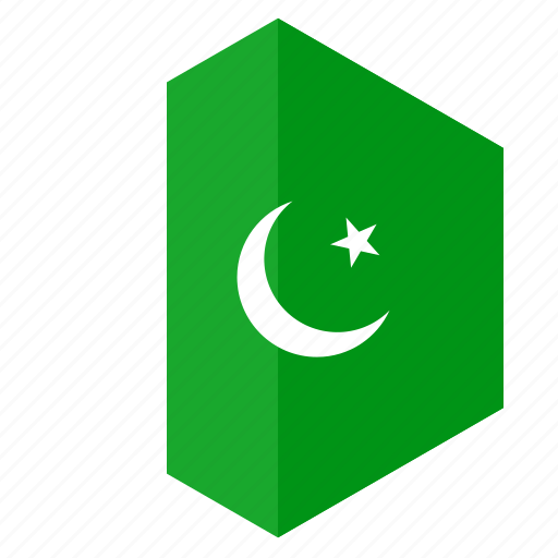 asia, country, design, flag, hexagon, pakistan icon