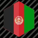 afghanistan, asia, country, design, flag, hexagon
