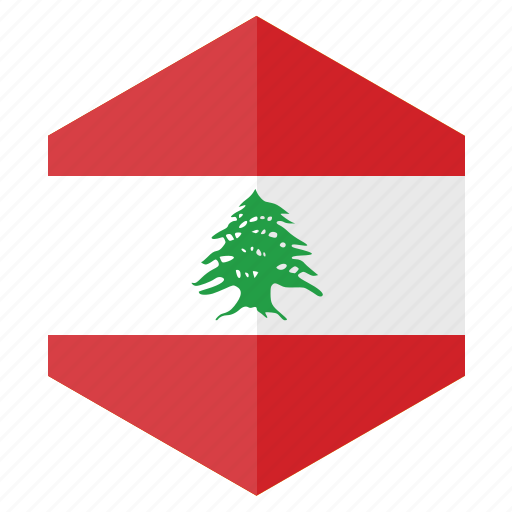 asia, country, design, flag, hexagon, lebanon icon