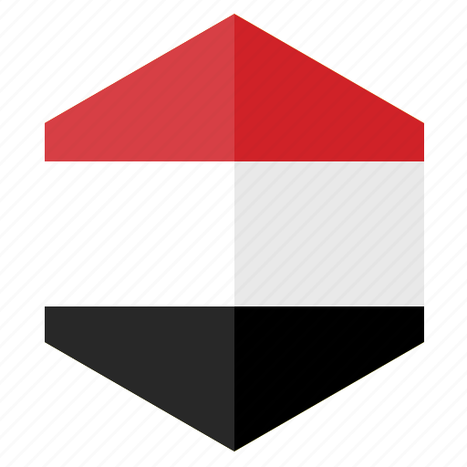 asia, country, design, flag, hexagon, yemen icon