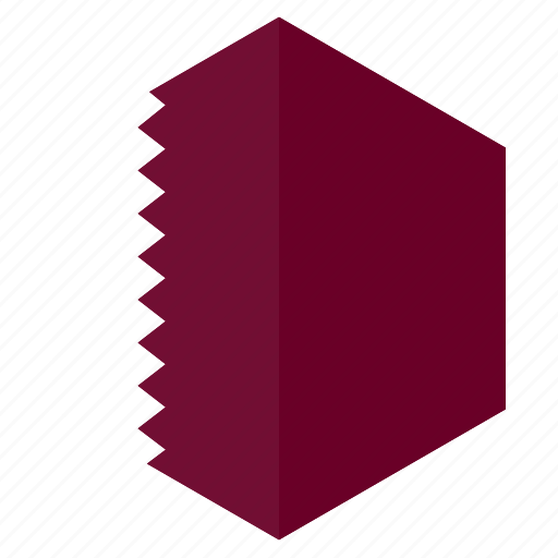 asia, country, design, flag, hexagon, qatar icon