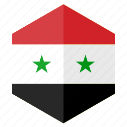 asia, country, design, flag, hexagon, syria icon