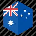 asia, australia, country, design, flag, hexagon