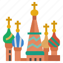 asia, city, country, landmark, moscow, russia, saint basil's cathedral icon