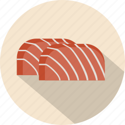 asian, fish, food, salmon icon