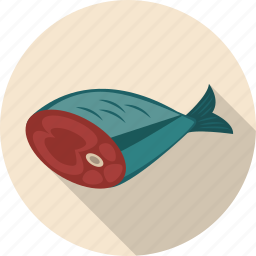 cut, fish, salmon, slice icon