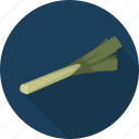 food, leek, vegetable icon