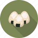 asian, food, onigiri, rice balls icon