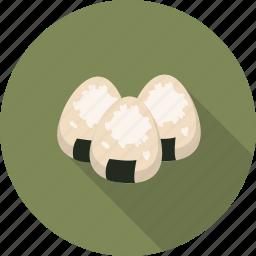 asian, food, onigiri, rice balls icon