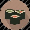 asian, food, rolls, sushi icon