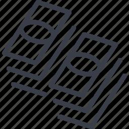 bill, cash, casino, finance, money icon