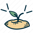 agriculture, develop, government, grow, plant, sprout icon