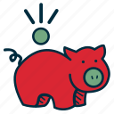 bank, budget, debt, frugal, government, pig, savings icon