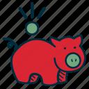 bank, budget, debt, frugal, government, pig, savings