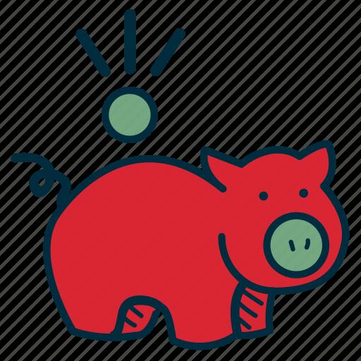 bank, budget, debt, frugal, government, pig, savings icon