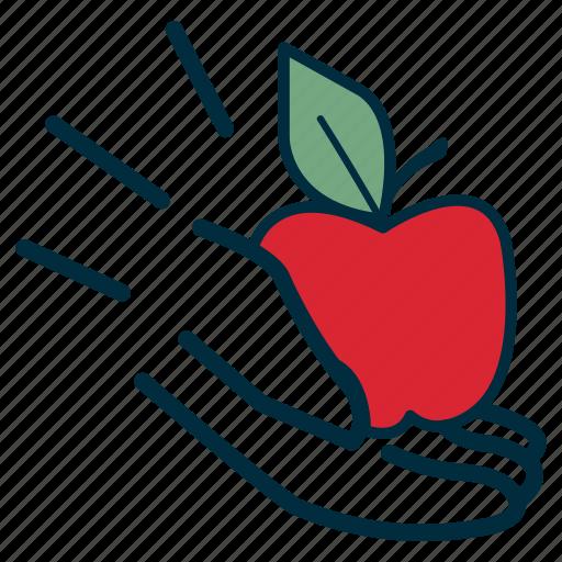 aide, apple, give, government, hand, prosper, teach icon