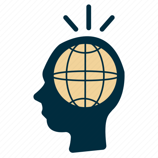 global, government, idea, international, mind, perspective icon