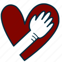 government, heart, honest, oath, pledge, swear, vow icon