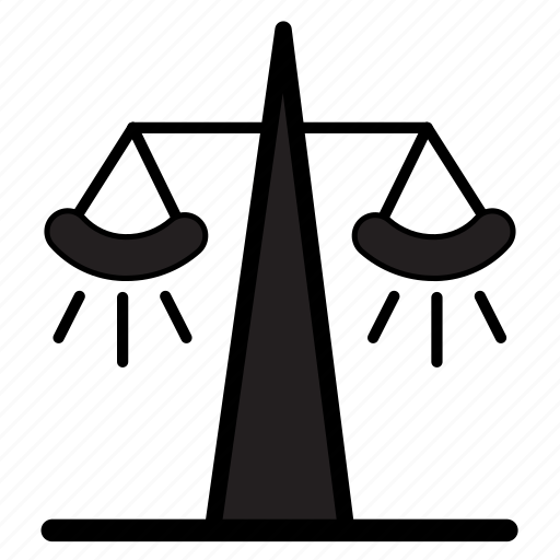 balance, court, government, judicial, justice, scales icon