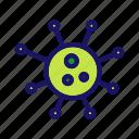 bacteria, germ, microbe, microorganism, virus icon