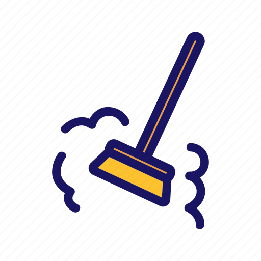 besom, broom, dirty, dust, sweep icon
