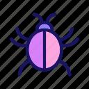 beetle, bug, dor, infection, virus icon