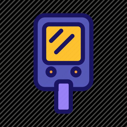 blood, diabetes, glucose, meter, test icon