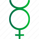 mercurius, mith, planet, solar system icon