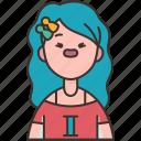 gemini, girl, zodiac, astrology, horoscope