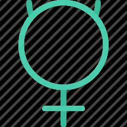 astrology, astronomy, mercury, space, zodiac icon