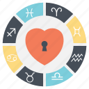 horoscope, love horoscope, love life predictions, unlocking love, zodiac signs icon
